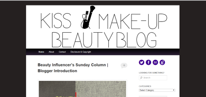 kiss make up beauty blog