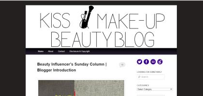 kiss make up beauty blog