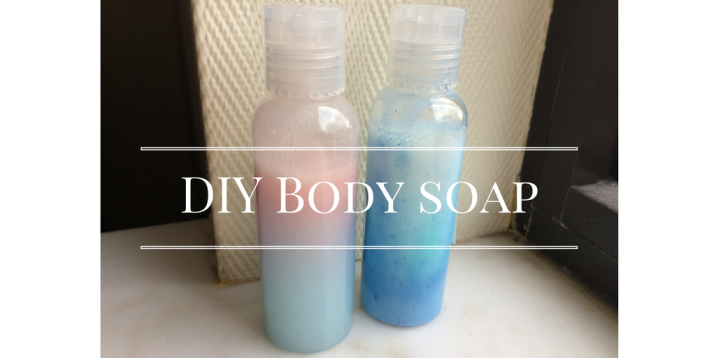 diy body soap blue sparkles