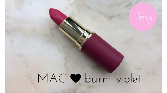 mac burnt violet a lipstick a day blue sparkles