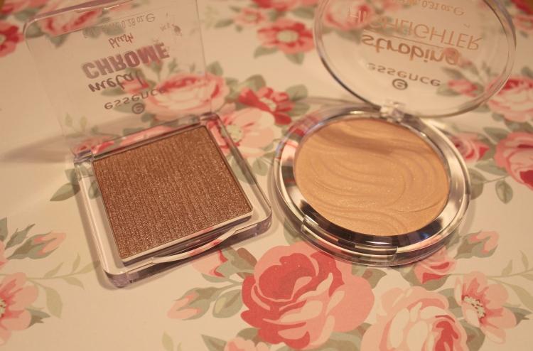essence chrome blush en strobing highlighter
